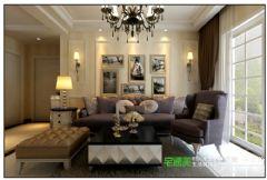 伟星金域华府三室一厅115平欧式风格装修效果图欧式客厅装修图片