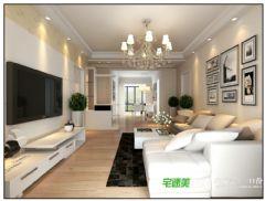 幸福花城三室两厅104平简约风格装修效果图简约风格三居室
