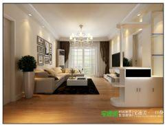 幸福花城三室两厅104平简约风格装修效果图简约客厅装修图片