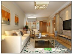 柏庄丽城两室两厅92平简约风格装修效果图简约风格小户型