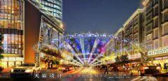 城市综合体效果图丨景观要素巧妙和谐组合起来的城市综合体效果图商场装修图片