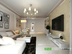 香江比华利山庄三室两厅109平简约风格装修效果图简约客厅装修图片