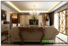 白金湾三室两厅116平中式风格装修效果图中式客厅装修图片