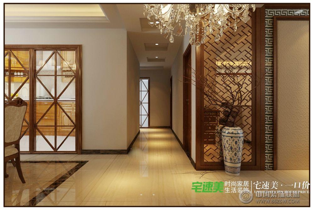 白金湾三室两厅116平中式风格装修效果图图片