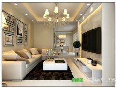 伟星平湖秋月两室两厅96平简约风格装修效果图简约客厅装修图片
