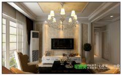 华强城美加印象三室一厅128平欧式风格装修效果图欧式客厅装修图片