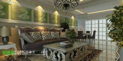 白金湾三室两厅116平简欧风格欧式客厅装修图片