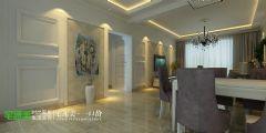 白金湾三室两厅116平简欧风格欧式过道装修图片