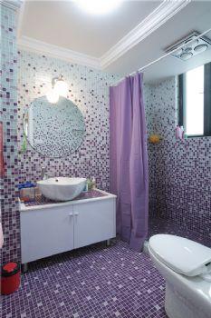 226平英式实景装修案例简约卫生间装修图片