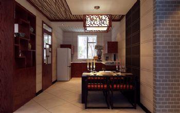 170平新中式装修案例中式餐厅装修图片