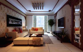 170平新中式装修案例中式客厅装修图片