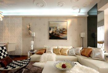 挂画设计彰显客厅的个性和品味现代客厅装修图片