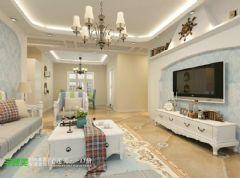 绿地镜湖世纪城三室两厅134平地中海风格地中海风格大户型