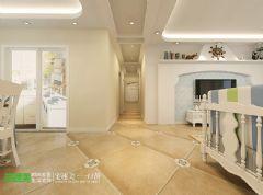 绿地镜湖世纪城三室两厅134平地中海风格地中海过道装修图片