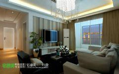 伟星城两室两厅89平现代简约风格现代餐厅装修图片