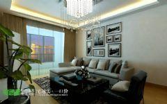 伟星城两室两厅89平现代简约风格现代客厅装修图片