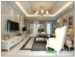 伟星公园大道壹号三室一厅119平简欧风格装修效果图欧式风格三居室