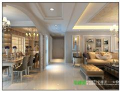 伟星公园大道壹号三室一厅119平简欧风格装修效果图欧式客厅装修图片