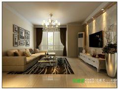 幸福花城三室两厅104平简约风格效果图简约客厅装修图片