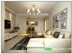 幸福花城三室两厅104平简约风格效果图简约风格三居室