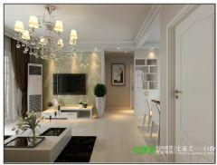 春天里两室两厅89平简约风格装修效果图简约风格小户型