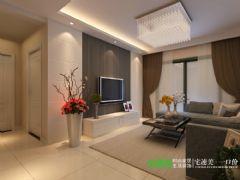 东紫园两室两厅88平简约风格装修效果图简约客厅装修图片