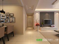 东紫园两室两厅88平简约风格装修效果图简约风格小户型