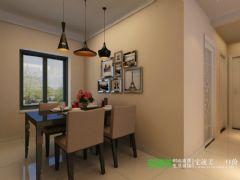 东紫园两室两厅88平简约风格装修效果图简约餐厅装修图片