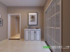 信德半岛三室两厅90平简约风格装修效果图简约过道装修图片