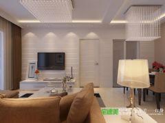 信德半岛三室两厅90平简约风格装修效果图简约客厅装修图片