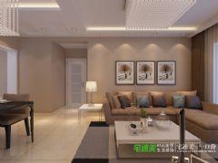 信德半岛三室两厅90平简约风格装修效果图简约风格小户型