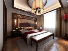 水岸星城现代中式风格中式卧室装修图片