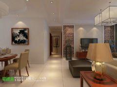 新华联梦想城三室两厅110平中式风格 上传 | 编辑 | 删除中式过道装修图片