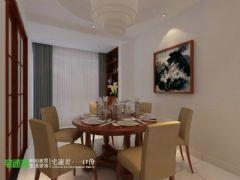 新华联梦想城三室两厅110平中式风格 上传 | 编辑 | 删除中式餐厅装修图片