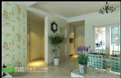 徽商春天两室两厅85平地中海风格欧式过道装修图片