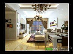 信达荷塘月色三室两厅95平简约风格装修效果图简约风格小户型
