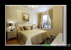 信达荷塘月色三室两厅95平简约风格装修效果图简约卧室装修图片