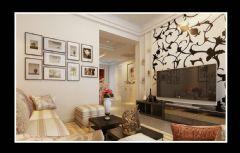 宏金金色水岸两室两厅89平现代风格装修效果图现代客厅装修图片