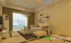 城市之光三室两厅106平简欧风格装修效果图欧式风格三居室