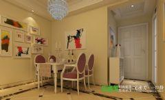 城市之光三室两厅106平简欧风格装修效果图欧式客厅装修图片