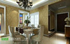 世茂滨江花园三室两厅135平欧式风格欧式餐厅装修图片