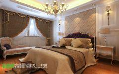 世茂滨江花园三室两厅135平欧式风格欧式卧室装修图片