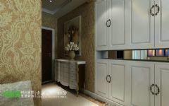 世茂滨江花园三室两厅135平欧式风格欧式过道装修图片