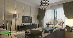 金域华府三室两厅119平简约风格简约客厅装修图片