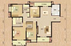 【龙发装饰】绿地国际金融城中式风格三居室