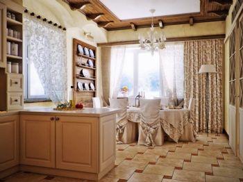 窗帘设计现代餐厅装修图片
