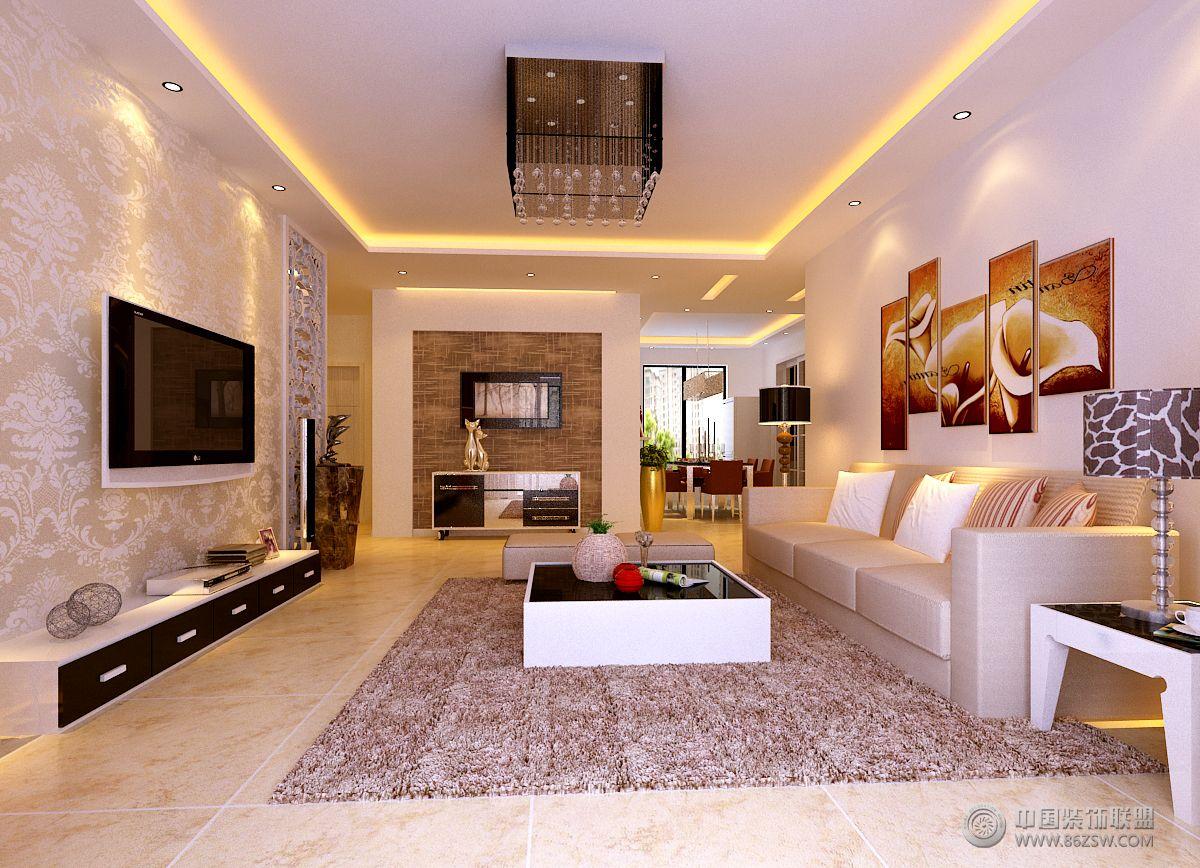 绿水东城简约风格-客厅装修图片