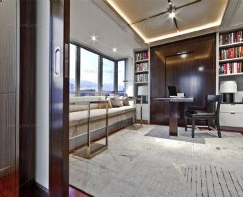 阳台书房设计_现代大户型装修效果图_八六(中国)装饰