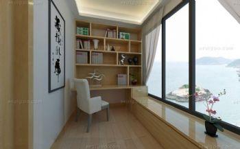 阳台书房设计现代书房装修图片
