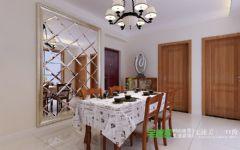 华强城美加印象两室两厅89平中式风格装修效果图中式餐厅装修图片